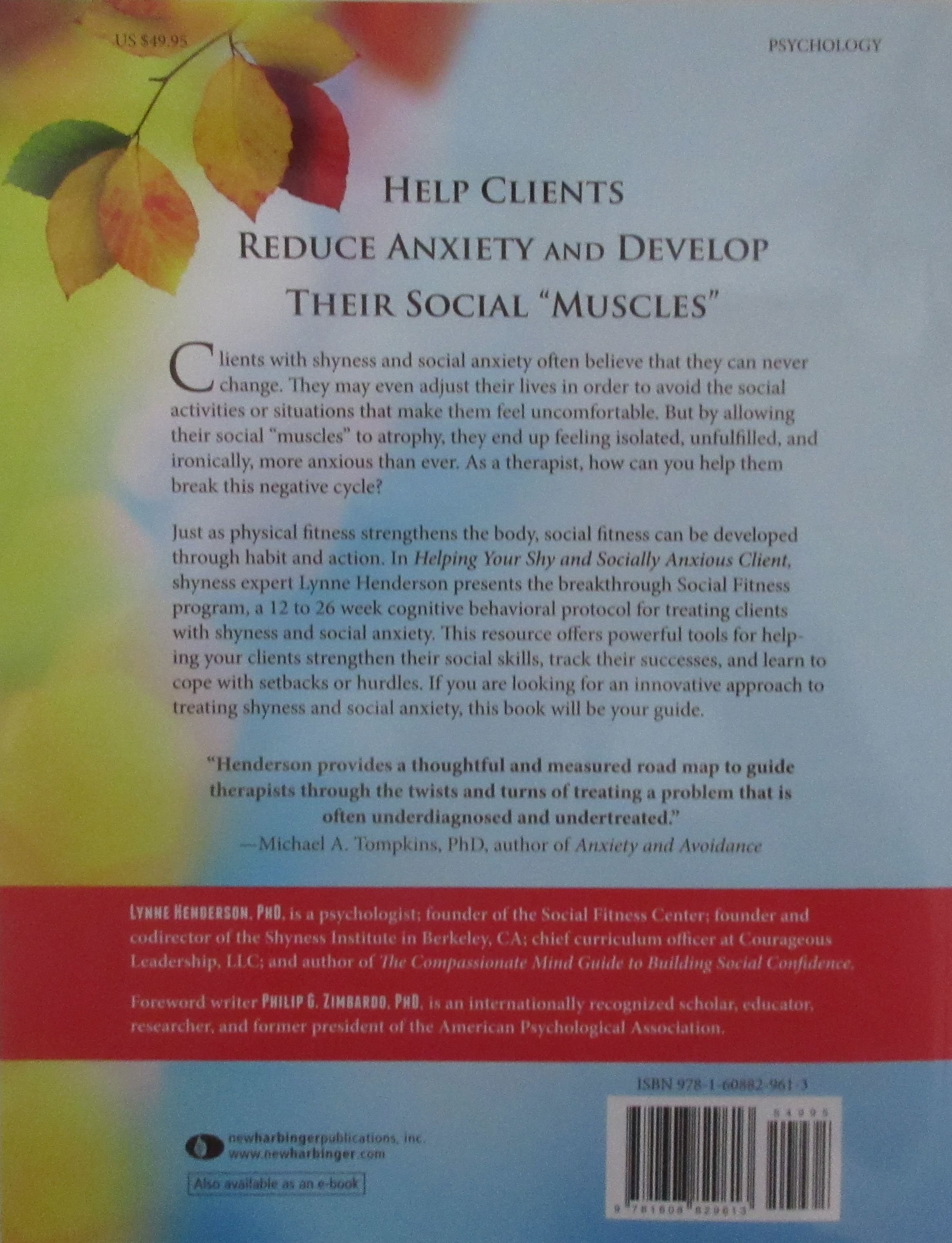 Social Fitness Training Protocol- back cover
